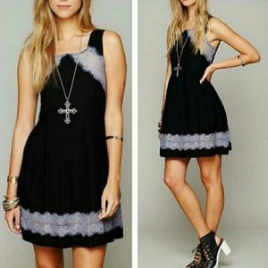 Free People Georgia Lace Dress in Black Size 4